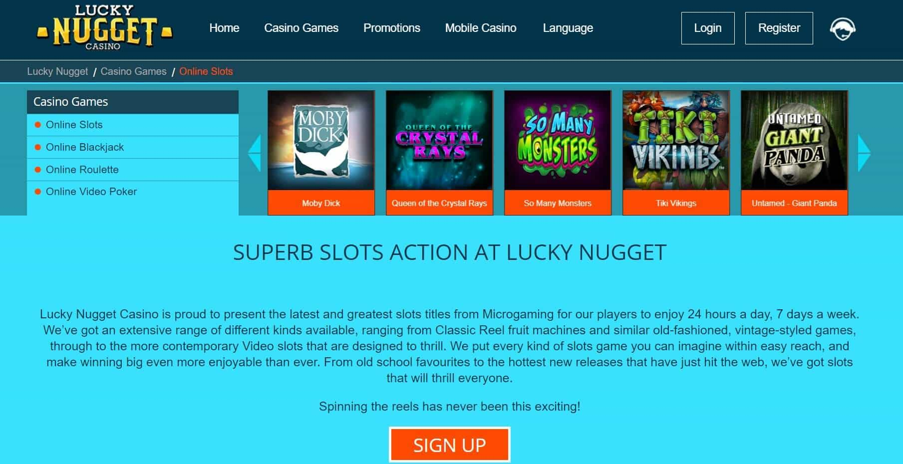 luckynugget casino slots