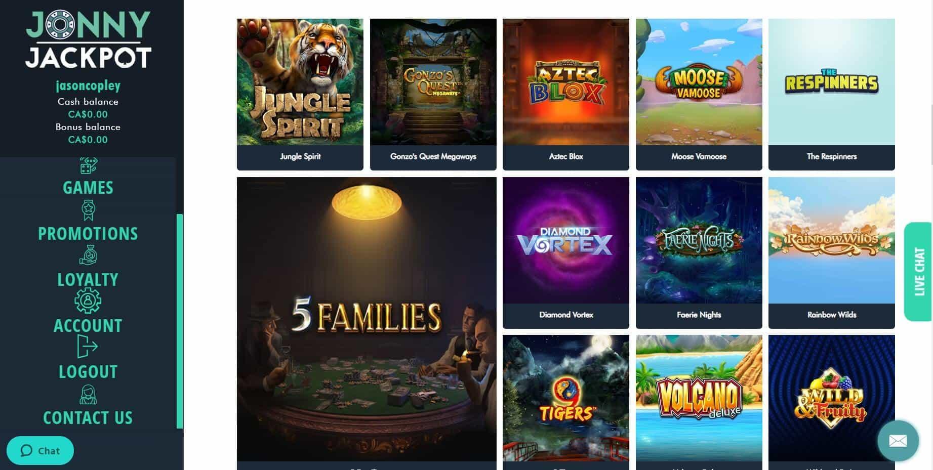 jonny jackpot Casino slots