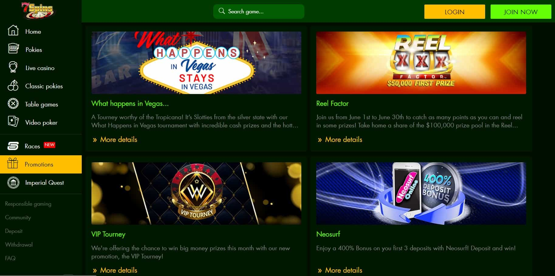 7 spins casino promotions