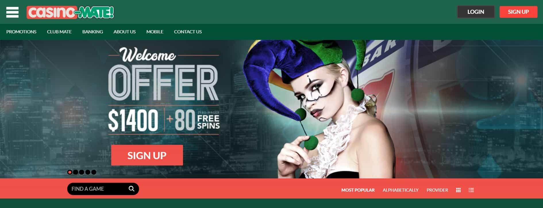 casino mate casino homepage