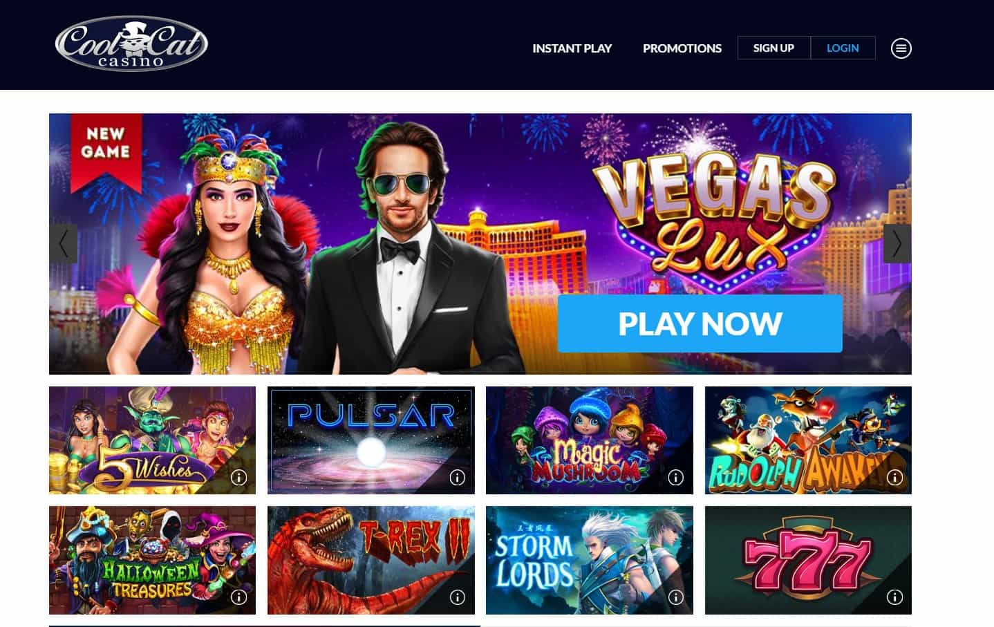 cool cat casino homepage