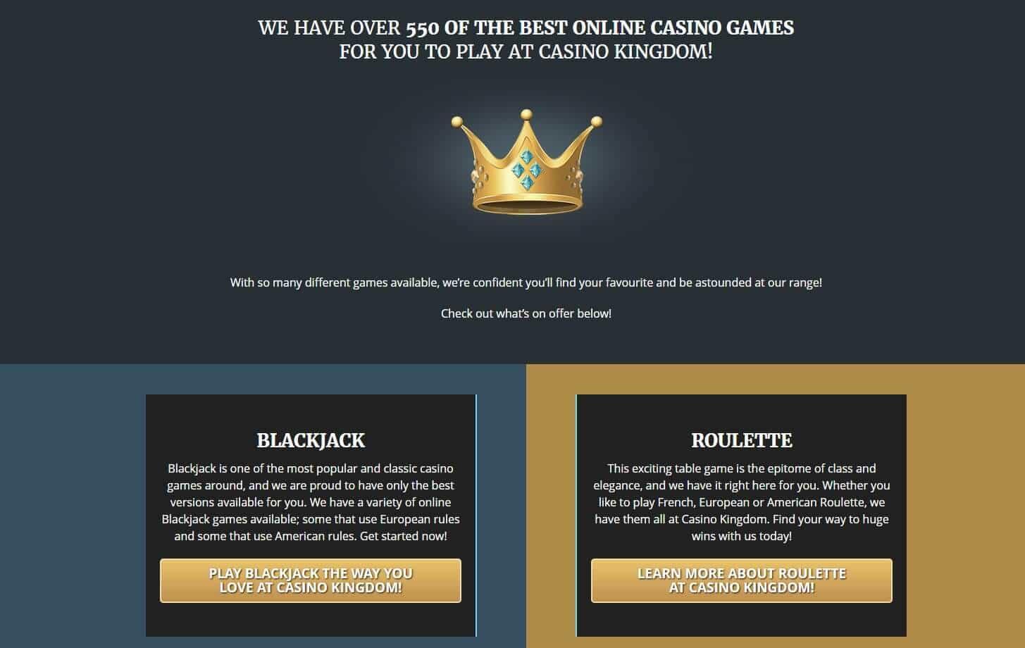 Casino kingdom games