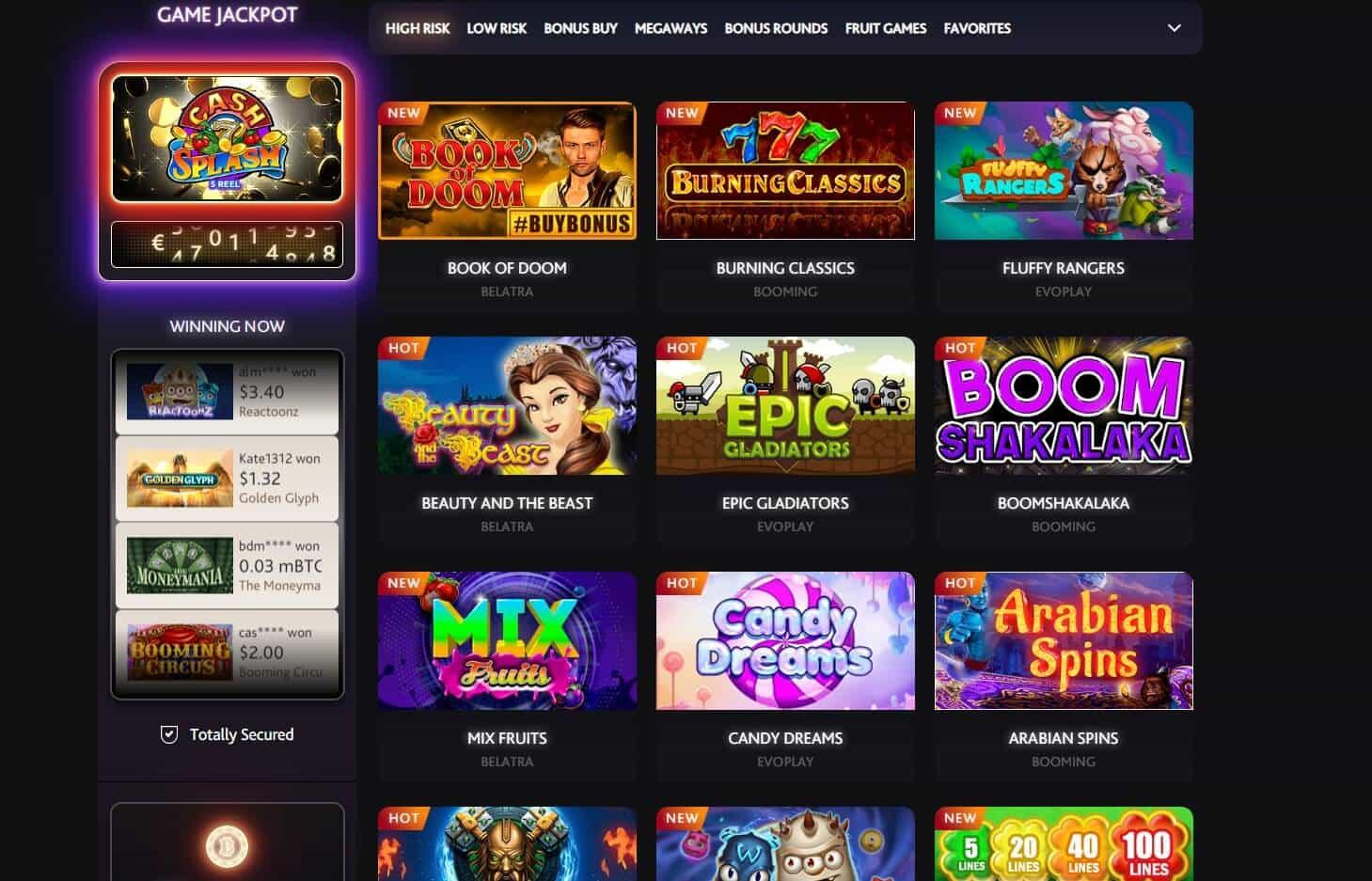 7bit Casino games