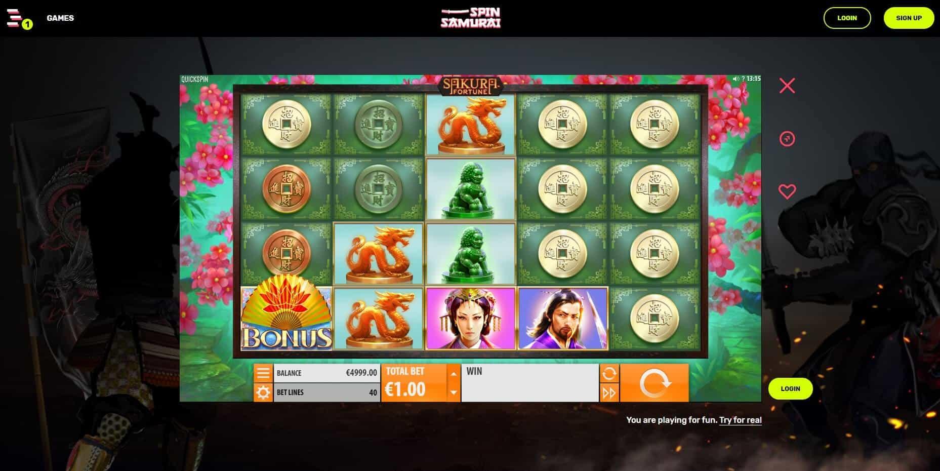 Spin Samurai Casino Slot