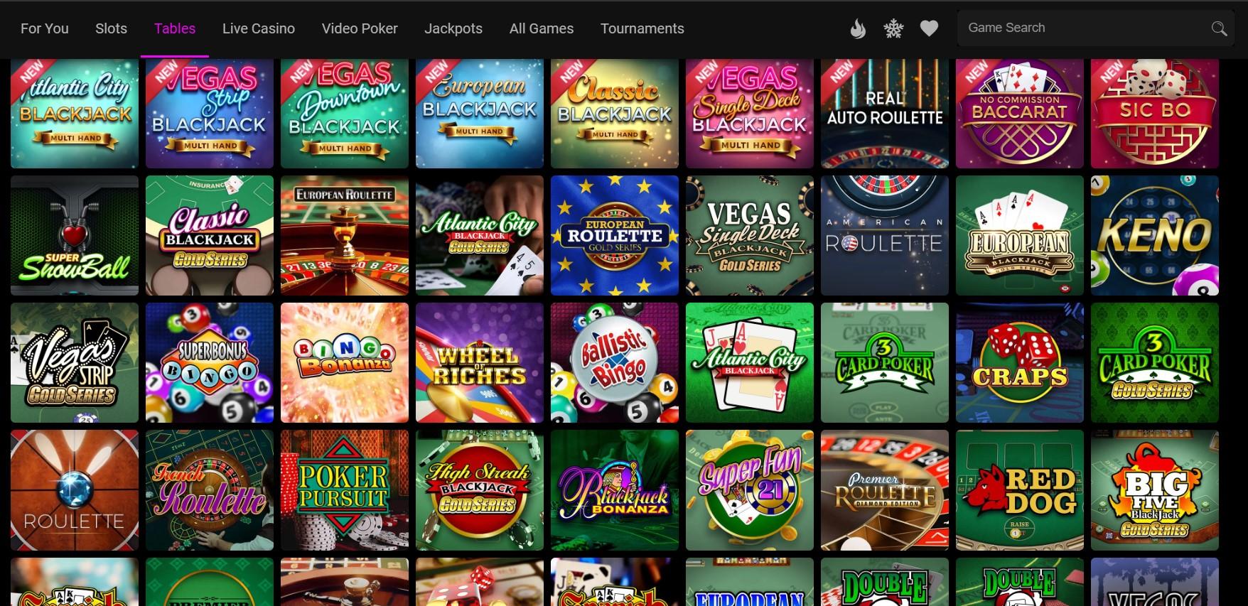 Jackpotcity Casino tables