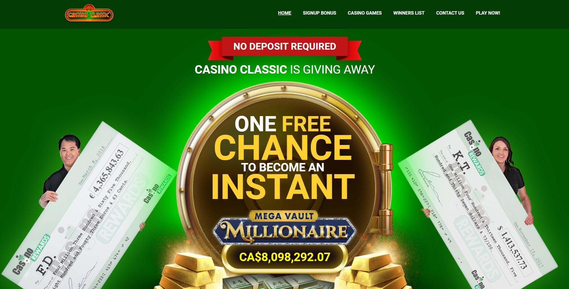Casino Classic homepage