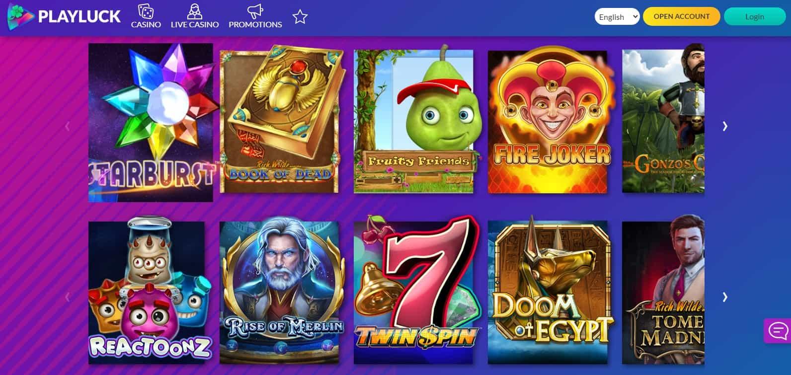 Playluck Casino Games