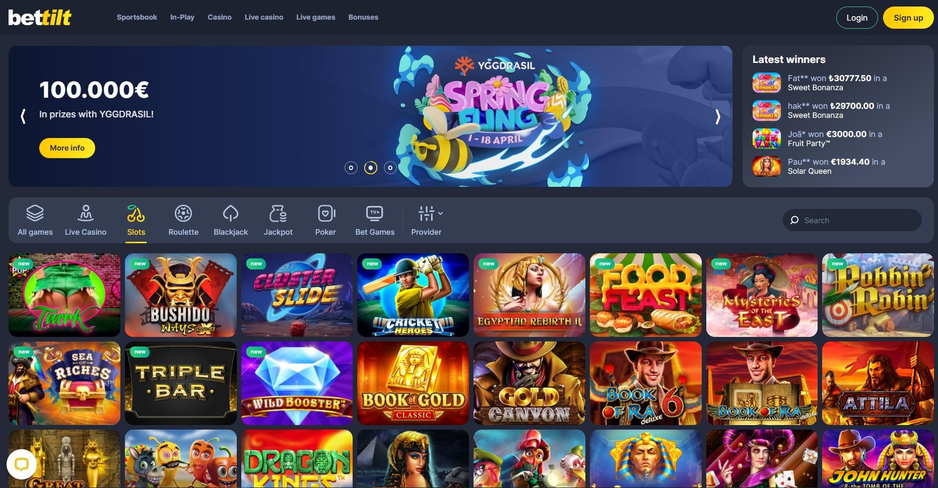 Bettilt casino slot games