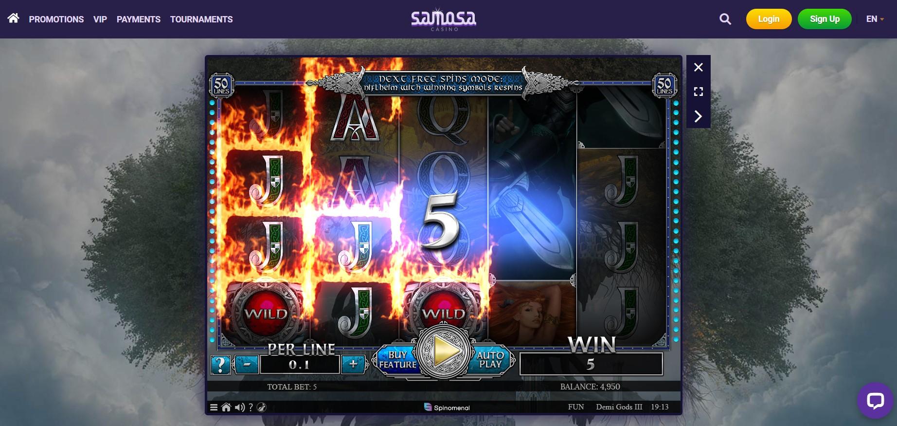 Samosa Casino game